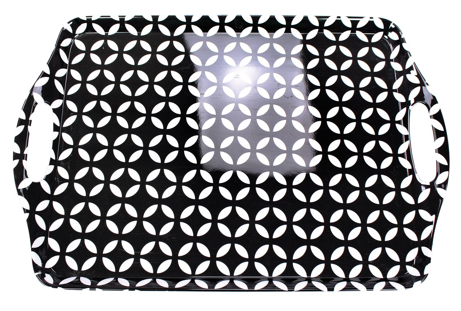 tablett melamin schwarz wei 45x30cm schwarz wei e. Black Bedroom Furniture Sets. Home Design Ideas